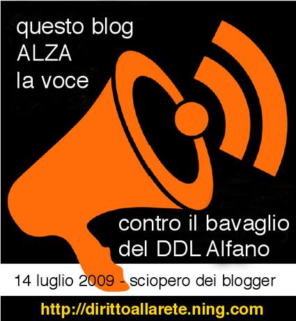 Contro il bavaglio del DDL Alfano